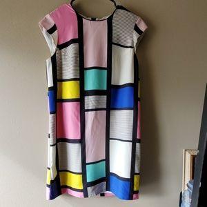 Kate spade geometric pattern dress